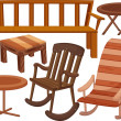 Various chairs and tables — Stock Vector #10275949