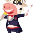 Singing cow — Stock Vector #10276465