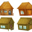 Set of cabins — Stock Vector #10276719