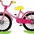 Pink bike — Stock Vector