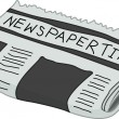 Newspaper — Stock Vector