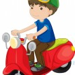 Boy riding a scooter — Stock Vector #10277461