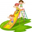 Kids at a park — Stock Vector #10277792