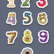 Royalty-Free Stock Vector Image: Number stickers
