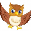 Isolated comical owl — Stock Vector