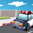 Police on the road — Stock Vector #10278134
