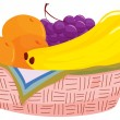 Fruit basket — Stock Vector