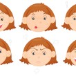 Faces - Stock Vector