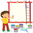 Vector de stock : House painter