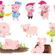 Pigs — Stock Vector