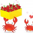Royalty-Free Stock Vector Image: Two crabs