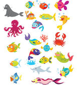 Sea life — Stock Vector