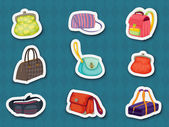 Handbag stickers — Stock Vector