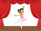 Ballerina on stage — Stock Vector