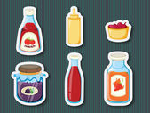 Sticker series of containers — Stock Vector