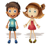 Boy and girl — Vector de stock