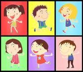 Enfants sur les couleurs — Vecteur