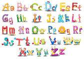 Caracteres del alfabeto — Vector de stock