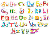 Znaky abecedy — Stock vektor