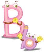 The letter B — Stock Vector