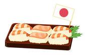 Comida japonesa — Vector de stock