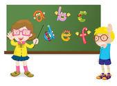 Teaching the alphabet — Stock Vector