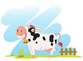 Vache cartoon — Vecteur