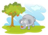 слон в парке — Cтоковый вектор