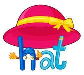 H for hat — 图库矢量图片