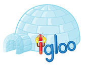 I for igloo — Stock Vector
