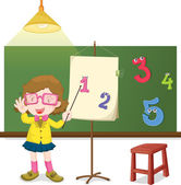 Teaching how to count — Stock Vector