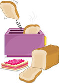 Toaster and bread — Stock Vector