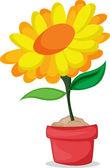 Flower in a pot — Stock Vector