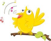 Uccello canto — Vettoriale Stock