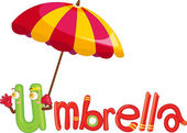 U per ombrello — Vettoriale Stock