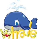 W pro velryba — Stock vektor