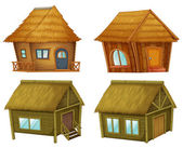 Set of cabins — Stock Vector
