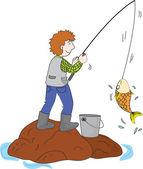 Gone fishing — Stock Vector