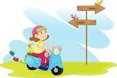卡通小孩 — 图库矢量图片