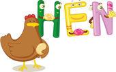 курица слово — Cтоковый вектор