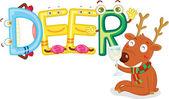 Deer alphabet — Stock Vector