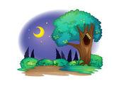 árbol con hueco — Vector de stock