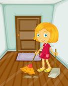 Sweeping — Stock Vector