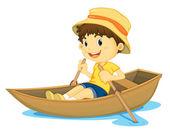 赛艇男孩 — 图库矢量图片