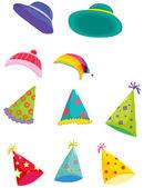 çeşitli şapka — Stok Vektör