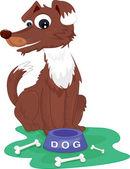 коричневая собака — Cтоковый вектор