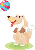 Dog playing — Stock Vector