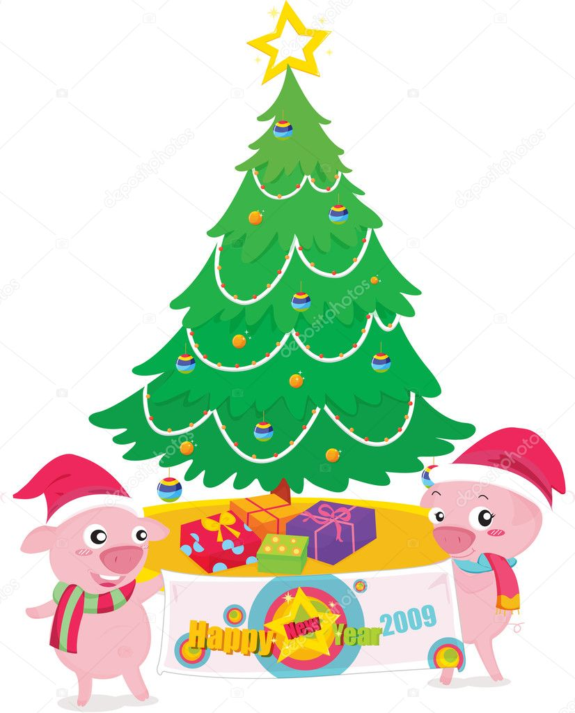 Illustration of Seasons Greetings for 2009 — Stock Vector #10275385