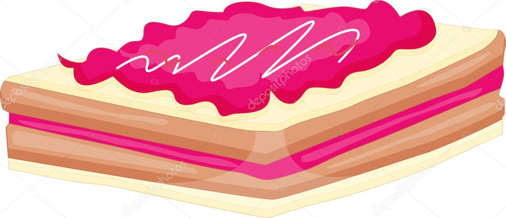 Strawberry slice wafer with icing — Stock Vector #10275478