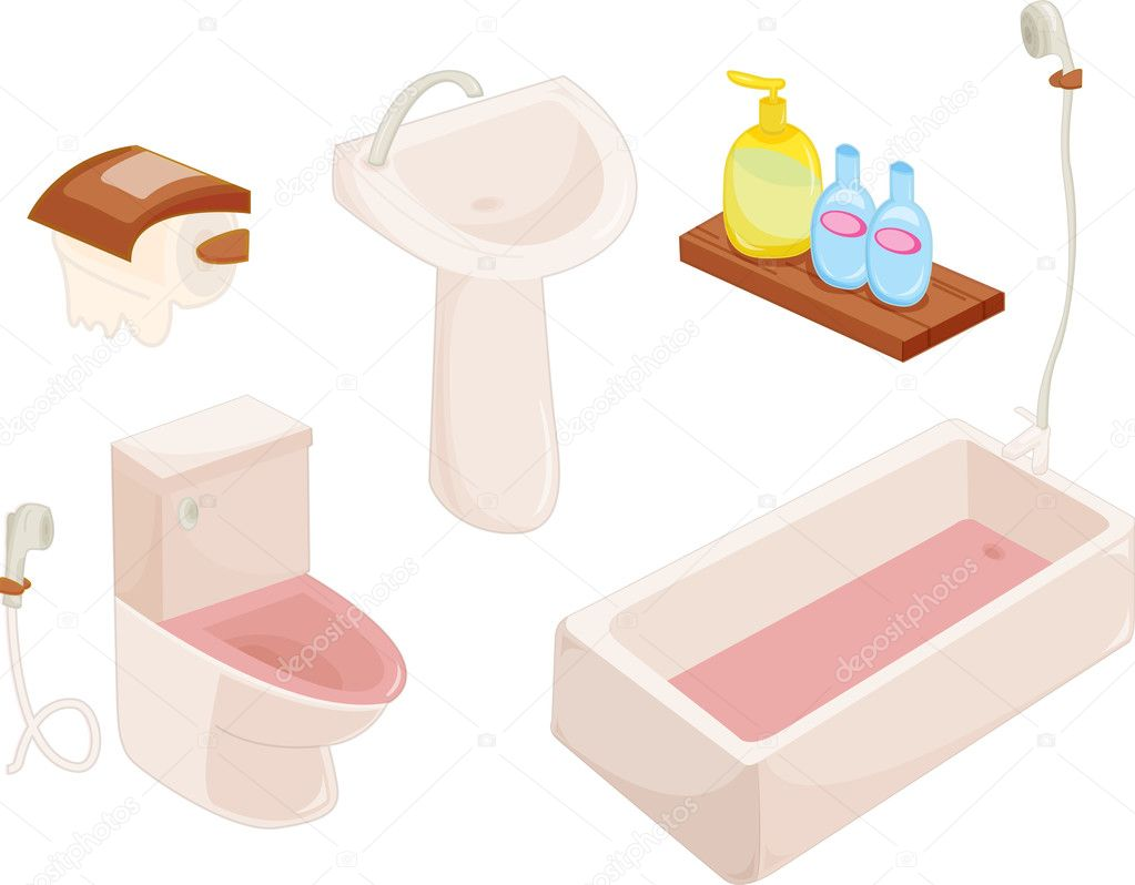 Llustration of components in lavatory — Stock Vector #10275981